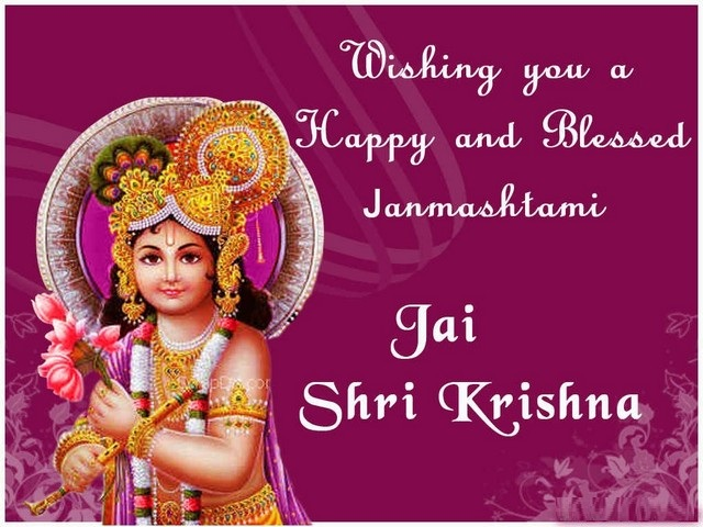 Beautiful Lord Krishna Janmashtami Profile Pic for free download