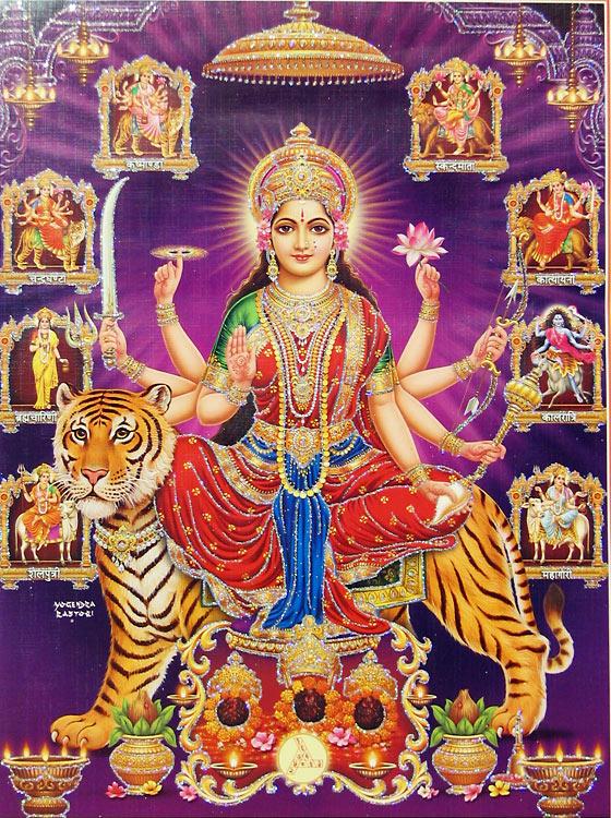 Nava Durga Beautiful Hd Wallpaper Pics Download Happy Navratri Durga