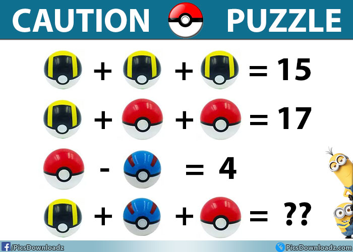 90% Will Fail to Answer this Pokémon Ball Puzzle