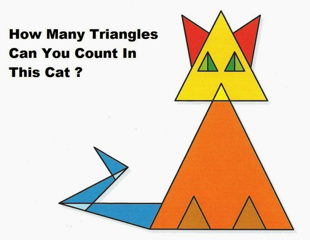 How Many TRIANGLE You COUNT?- PUZZLES & RIDDLES | Puzzles | Pics Story