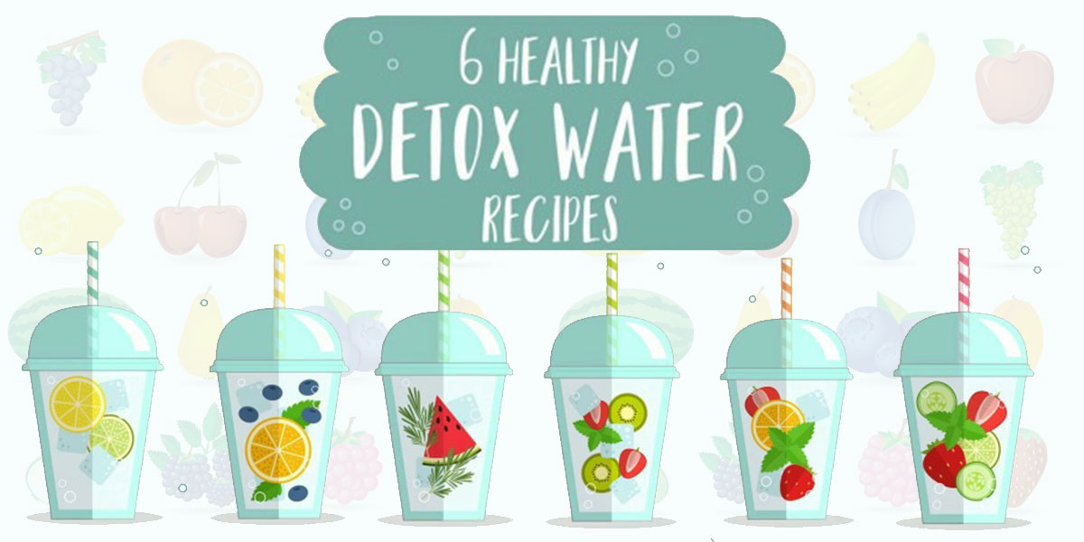 6 Diy Healthy Detox Water Recipes Infographic