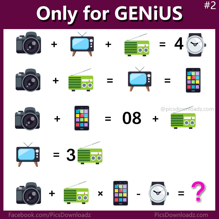Can You Solve This Viral Math Puzzle That Is Boggling: Only For Genius Puzzles!! On Flipboard By Pics Story