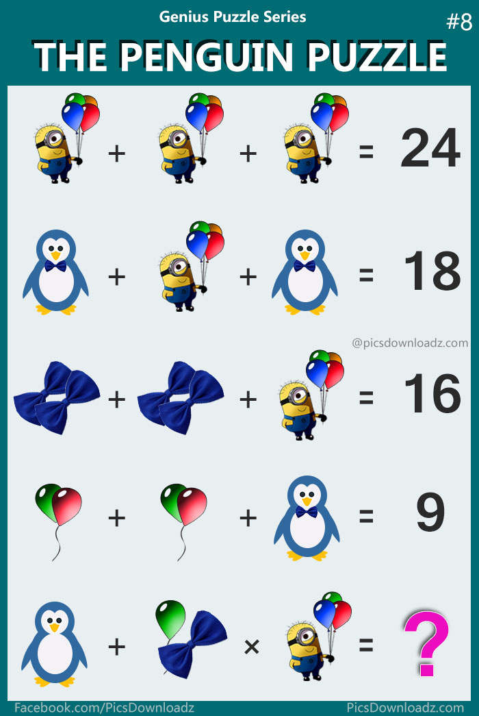 The Penguin Minions Puzzle Most Viral Confusing Math Puzzle