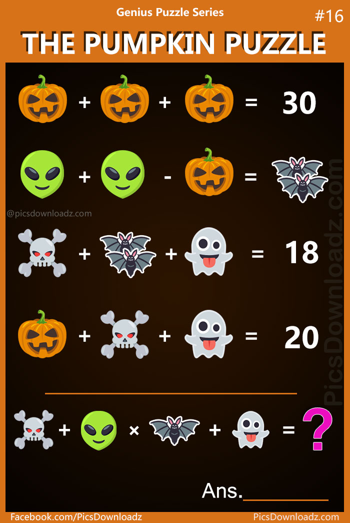 The Pumpkin Puzzle Genius Series 16